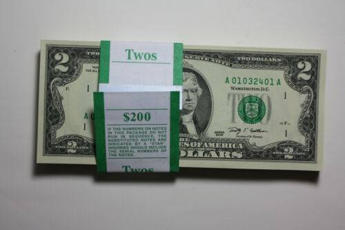 1 Crisp Uncirculated $2 Two Dollar Bill US Currency in Coins & Paper Money, Paper Money: US, Small Size Notes | eBay