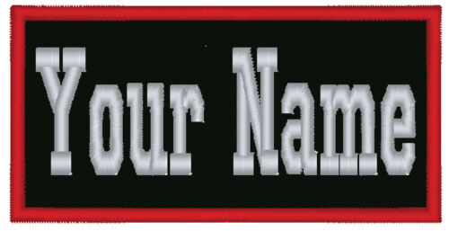 "1 Custom Embroidered Name Patch Biker Motorcycle Tag Personalized 5"" (NT4) in Specialty Services, Custom Clothing & Jewelry, Other 