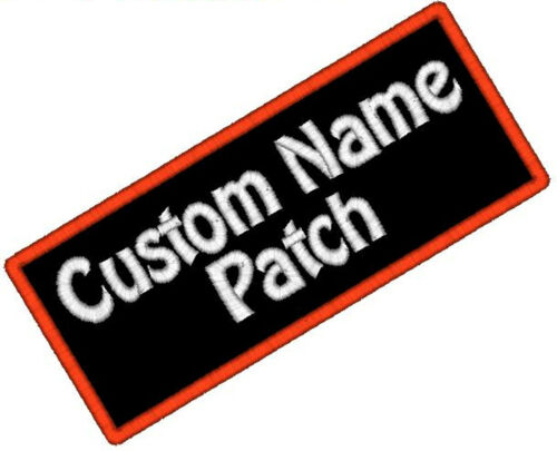 1 Custom Embroidered Name Patch Motorcycle Biker Tag IRON ON Badge Embroidery in Specialty Services, Custom Clothing & Jewelry, Other | eBay