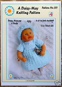 KNITTING PATTERN by *DAISY-MAY*13- 14INS.for 1st baby Annabell. No277