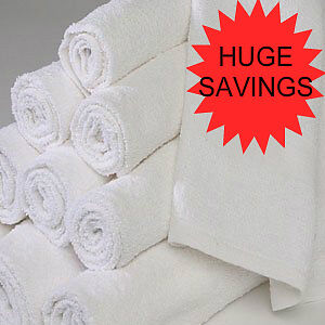 1 DOZEN NEW WHITE 22X44 100% COTTON TERRY BATH TOWELS SALON/GYM 6# DOZEN in Home & Garden, Bath, Towels & Washcloths | eBay