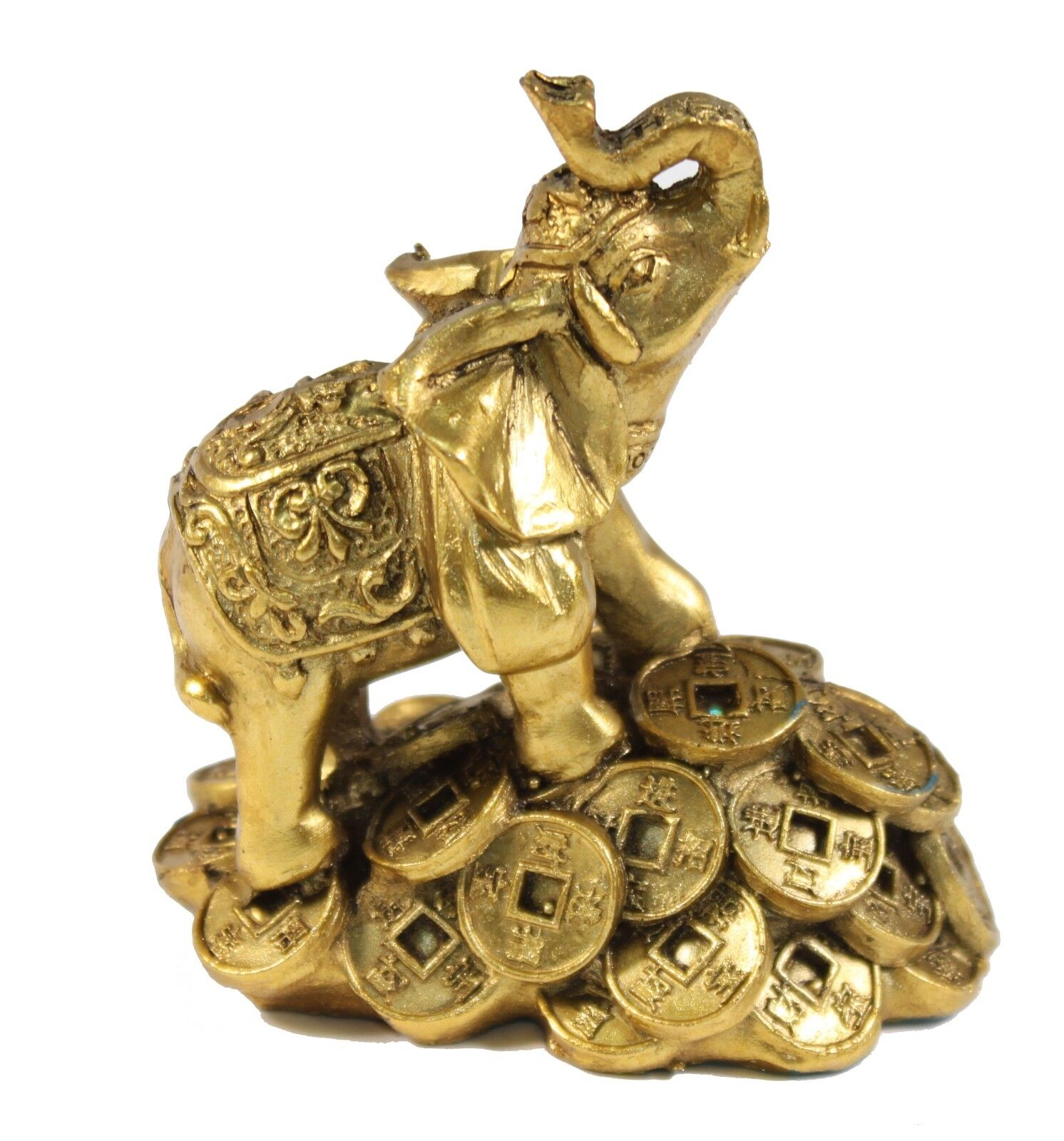 "Elephant Home Decor: 1 Feng Shui 3"" Money Elephant Figurine Wealth Lucky"