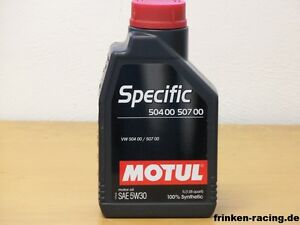 1 ltr motul specific 50400 50700 5w 30 motor l f r vw ebay. Black Bedroom Furniture Sets. Home Design Ideas