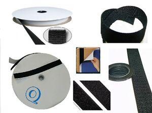 1 meter klettband selbstklebend back to back beidseitig weis oder schwarz ebay. Black Bedroom Furniture Sets. Home Design Ideas