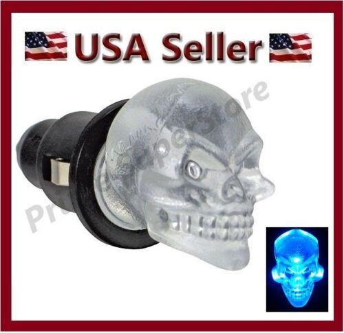 12v Skull Head Blue Led Dash Glow Interior Map Light Car Plug2 Cigarette Lighter Ebay