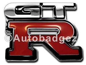 ... Chrome-Nissan-SKYLINE-R33-R34-GTR-GT-R-badges-emblems-logo-GT-R-CHROME