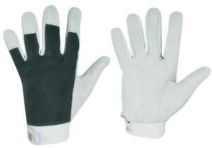 1-Paar-Lederhandschuhe-Montagehandschuhe-Arbeitshandschuhe-aus-Nappaleder-Gr-8