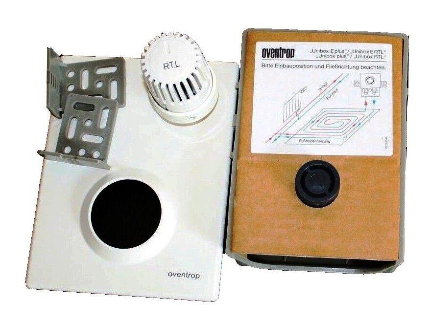 oventrop einzelraumregelung unibox plus thermostatventil und rtl ventil plus ebay. Black Bedroom Furniture Sets. Home Design Ideas