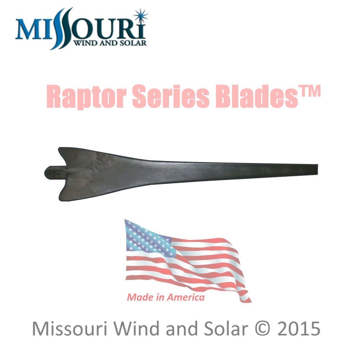 1 Raptor Series Blade™ BLACK wind turbine generator blade ...
