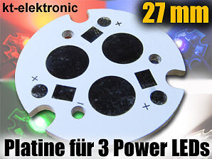 1-Stueck-27mm-Leiterplatte-Platine-fuer-3x-1W-3W-5W-Power-LED-weiss