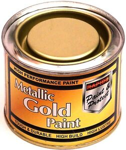 1 x 180ml metallic gold exterior interior paint tough durable metal wood etc ebay