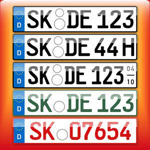 1 x eu kennzeichen autoschild nummernschild f r. Black Bedroom Furniture Sets. Home Design Ideas