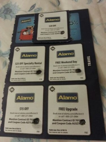 Alamo discount coupons