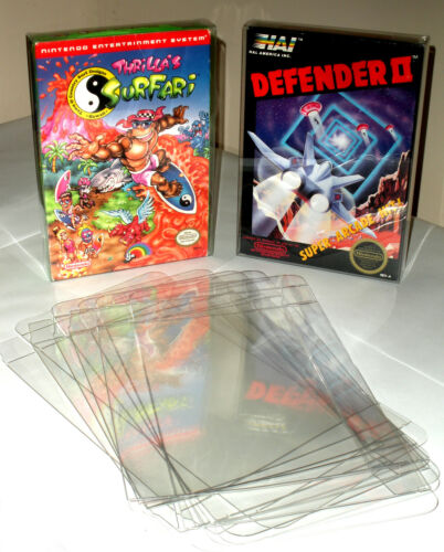 10 Clear NES Game Box Protectors - Protect your CIB games! Nintendo in Video Games & Consoles, Other | eBay