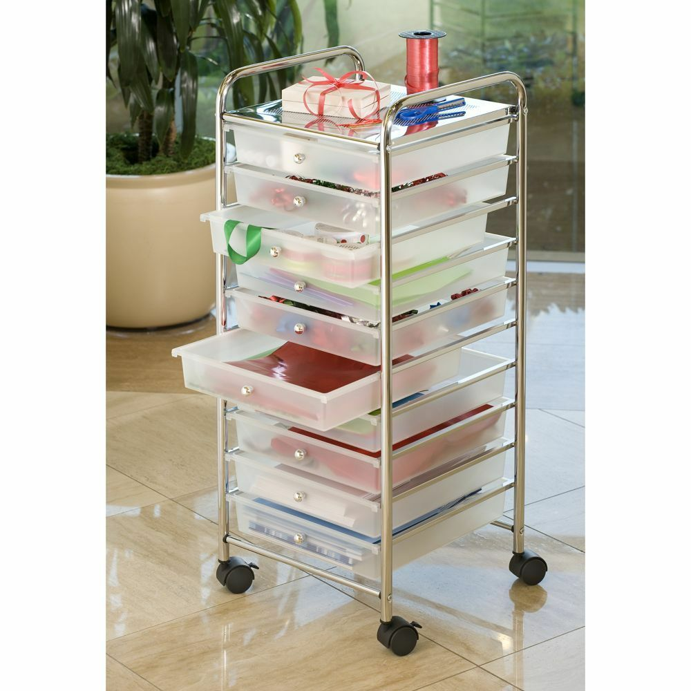 plastic organizer art craft scrapbook home office supplies storage box