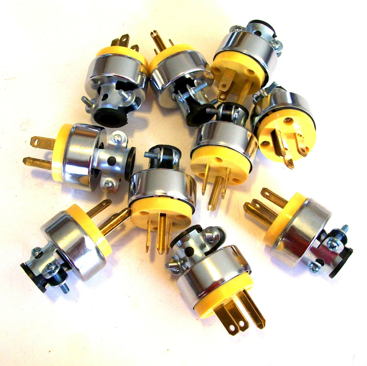10 Extension Power Cord Replacement Plug Ends Male