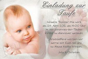 10 Einladung Danksagung Karte Taufe Baby Danksagungskarten ...