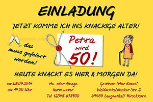 10 Einladungskarten Geburtstag 40 50 60 FRAU Einladungen Geburtstagseinladung | eBay