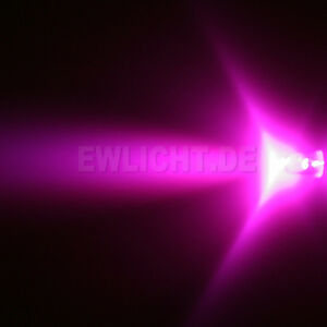 10-LEDs-5mm-Pinke-3000-mcd-Pink-LED-Rosa-Zub-PC-KFZ-Auto-Moebel-Beleuchtung