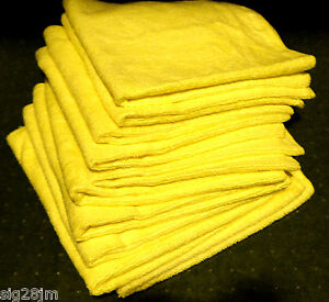 10-MICROFIBRE-extra-large-16-x-16-ULTRA-SOFT-CLOTHS-CLEANING-POLISHING-CAR