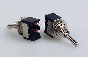 10-Miniatur-Kippschalter-einpolig-Ein-Aus-230V-3A-Ausschalter