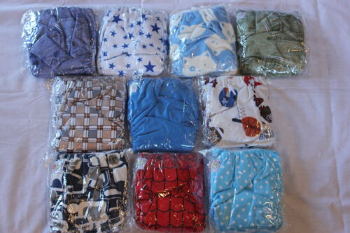 10 PACK POCKET CLOTH DIAPERS WITH 20 INSERTS (2 Inserts per diaper)-BOY PACK 1 in Baby, Diapering, Cloth Diapers | eBay