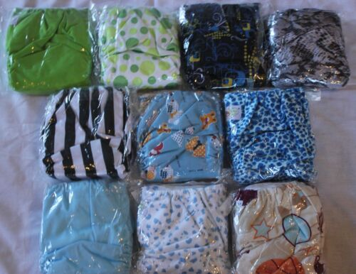 10 PACK POCKET CLOTH DIAPERS WITH 20 INSERTS (2 Inserts per diaper)-BOY PACK 2 in Baby, Diapering, Cloth Diapers | eBay