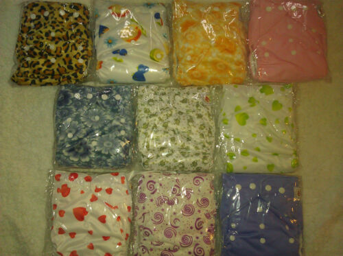 10 PACK POCKET CLOTH DIAPERS WITH 20 INSERTS (2 Inserts per diaper)-GIRL PACK 1 in Baby, Diapering, Cloth Diapers | eBay