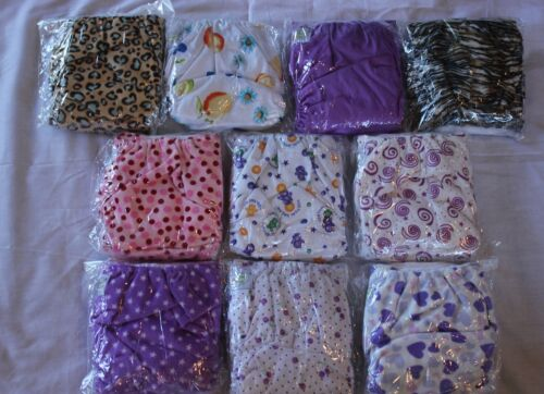 10 PACK POCKET CLOTH DIAPERS WITH 20 INSERTS (2 Inserts per diaper)-GIRL PACK 7 in Baby, Diapering, Cloth Diapers | eBay