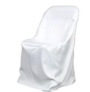 10 slightly used white folding chair covers wedding ebay