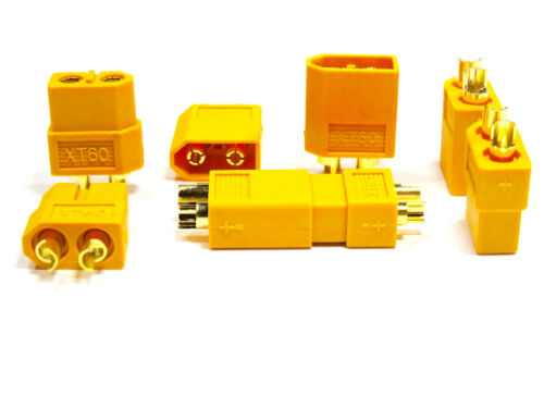8 Paar 16 Stück XT60 Nylon Hochstrom ESC Lipo Akku Stecker Buchse Connector 60A