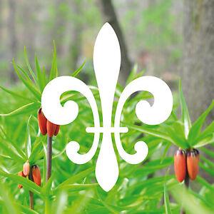 10 st ck 8cm wei lilie zeichen symbol aufkleber die cut. Black Bedroom Furniture Sets. Home Design Ideas