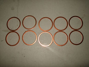10-Stueck-Kupferflachring-27-x-32-x-2-mm-NEU-Kupferring-Dichtringe