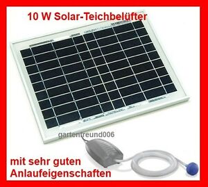 10 w solar teichbel fter sauerstoffpumpe gartenteich teich bel fter pumpe neu ebay. Black Bedroom Furniture Sets. Home Design Ideas