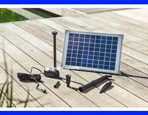 10 w solarpumpe teichpumpe solar springbrunnen pumpenset. Black Bedroom Furniture Sets. Home Design Ideas