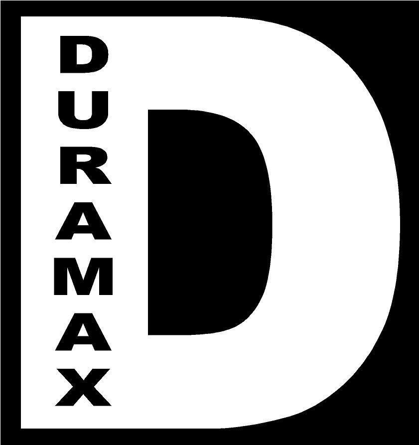 """10"""" White Vinyl Decal Duramax D Diesel Truck Chevy Chevrolet Fun Sticker Smoke"""