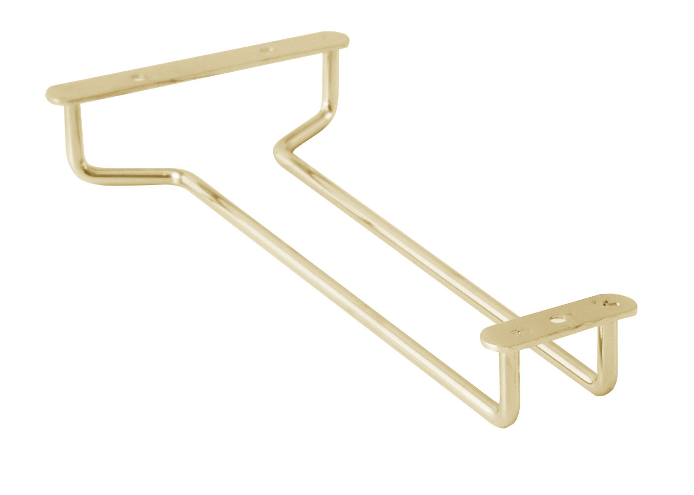 Ikea Drehstuhl Skruvsta Weiß ~ 10 wine glass hanger holder brass plated under cabinet rack shelf new