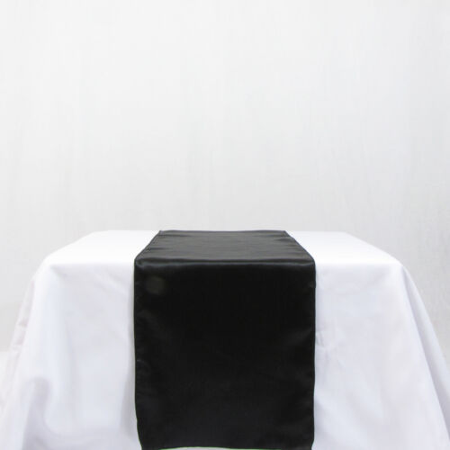 10 black satin table runners wedding decor new in Home & Garden, Wedding Supplies, Decorations | eBay