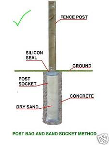 10 Fence Post Socket Bags Replace Posts Using A Hoover Ebay