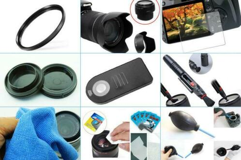 10 in 1 accessories kit: Canon 80D/90D + 18-55MM IS STM
