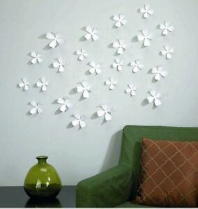 10 pcs white 3d flower wall sticker home decor pop up stickers wall art coverage ebay Deco murale originale