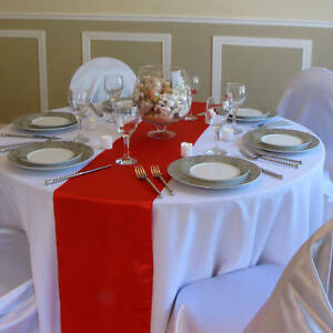 10 red satin table runners wedding decor bridal sash in Home & Garden, Wedding Supplies, Decorations | eBay
