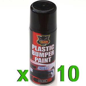 10 x black plastic bumper trim spray can 200ml restorer. Black Bedroom Furniture Sets. Home Design Ideas