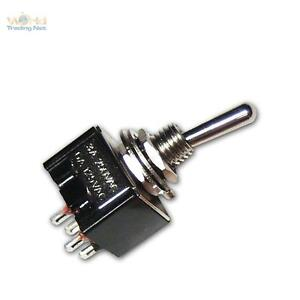 10-x-Mini-KippSchalter-schwarz-2-polig-230V-3A-Schalter
