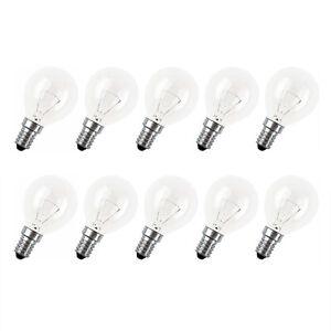 10-x-Tropfen-Gluehbirne-25W-E14-klar-Gluehlampe-25-Watt-Gluehbirnen-P45-Gluehlampen