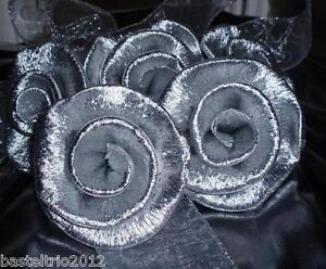 10 x kl krepprosen silber silberhochzeit jubil um deko - Deko zur silberhochzeit ...