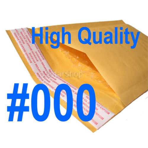 100 #000 Kraft Bubble Padded Envelopes Mailers Packing Bag 4 x 8 in Business & Industrial, Packing & Shipping, Mailers   eBay