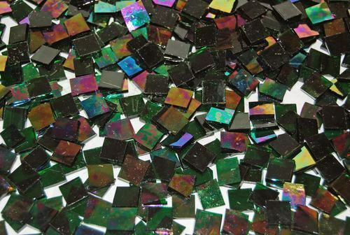 "100 1/2"" Green Cathedral Iridescent Stained Glass Mosaic Tiles in Crafts, Glass & Mosaics, Glass & Mosaic Tiles 