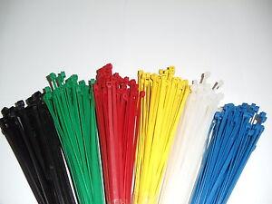 100-200-500-oder-1000-Stck-Kabelbinder-rot-blau-gelb-oder-gruen-ab-1-00