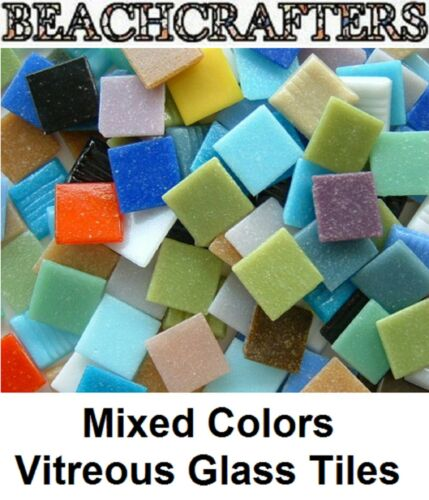 100 - 3/8 inch MIXED COLORS Venetian Vitreous Glass Mosaic Tiles in Crafts, Glass & Mosaics, Glass & Mosaic Tiles | eBay